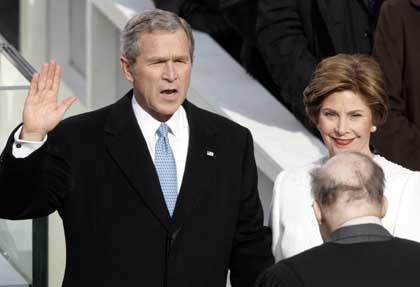 Bush Vereidigung