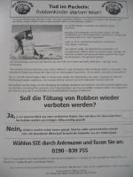Robbenabzocke Fax