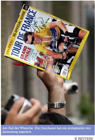 Lance Armstrong Unterschrift Sheryl Crow