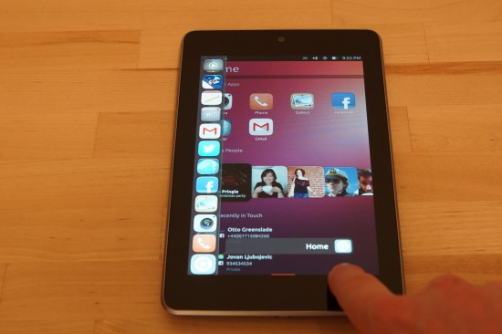 Ubuntu Touch Developer Preview im Betrieb
