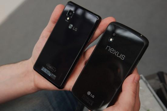 LG Optimus G und Nexus 4 Rückseiten