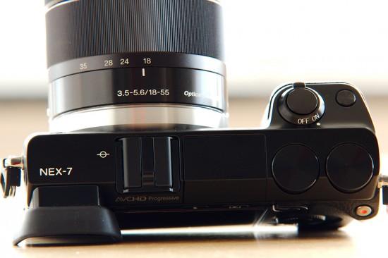 Sony NEX 7 Oberseite