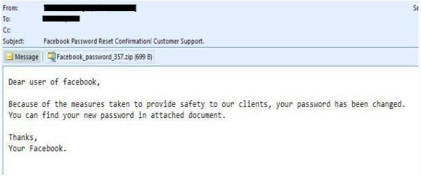 Facebook Scam Mail (Bild: McAfee)