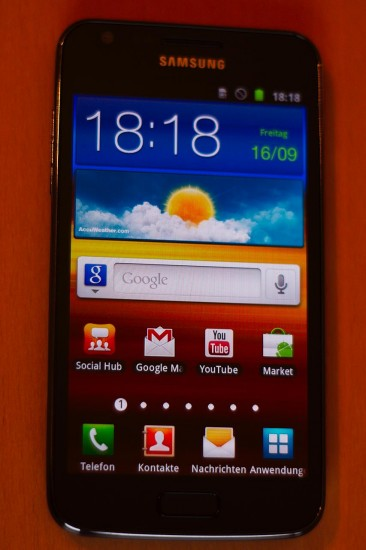 Samsung Galaxy S2 LTE Vorderseite