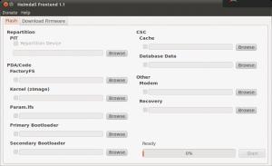 Heimdall Ubuntu Startbildschirm