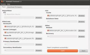 Heimdall Ubuntu: Flashvorgang erfolgreich