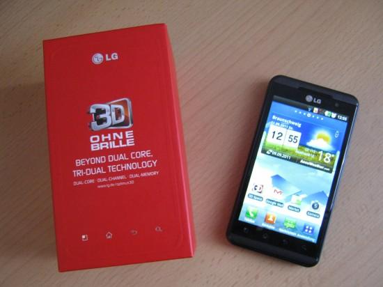 LG Optimus 3D inkl. Verpackung
