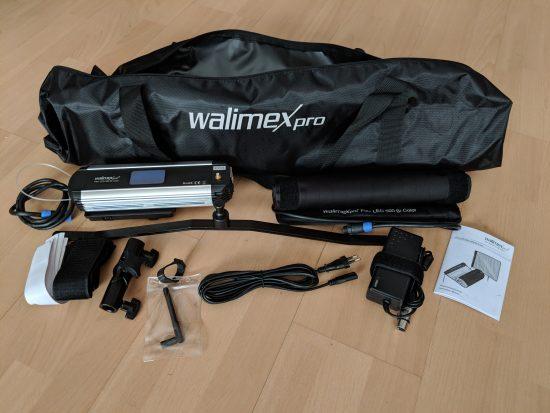Walimex pro Flex LED 500 Lieferumfang