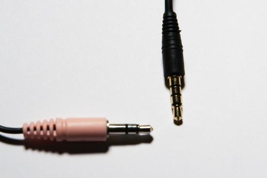 3,5mm Klinke Headset 4-Pol und 3,5mm Klinke 3-Pol Mikrofon