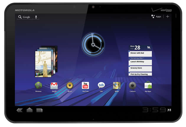 Motorola Xoom Android Honeycomb Tablet