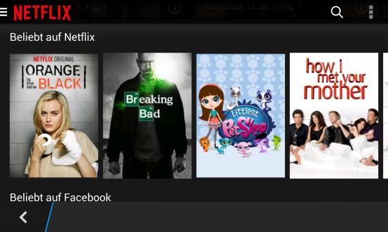 Netflix unter Blackberry OS 10 auf dem Z10