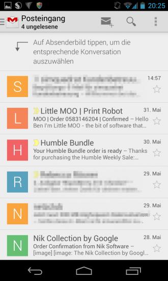 Gmail Version 4.5 Screenshot 1