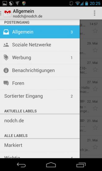 Gmail Version 4.5 Screenshot 2