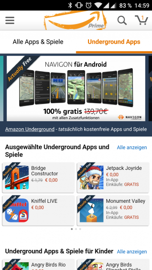 Navigon Europe kostenfrei bei Amazon Underground