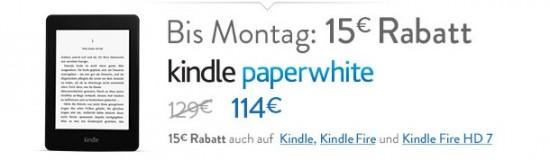 Kindle Paperwhite Sonderaktion