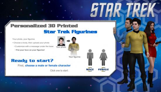 Star Trek figures on cubify.com