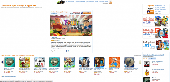 Amazon App-Shop Webversion