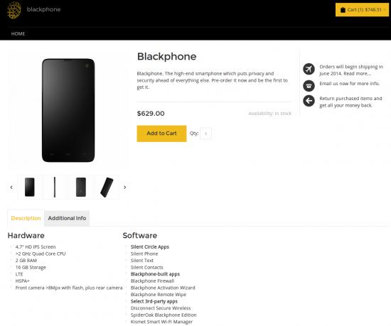 Blackphone bestellen