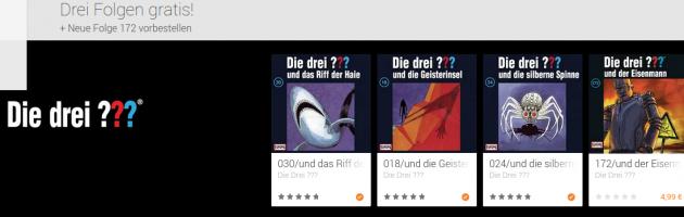 Die Drei ??? kostenlose Folgen im Play Store