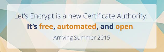 Let's Encrypt: Start Sommer 2015