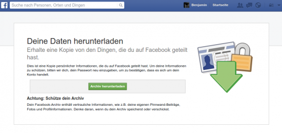 Facebook Archiv Download