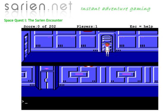 Space Quest online auf Sarien.net