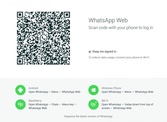 WhatsApp Web QR-Code scannen