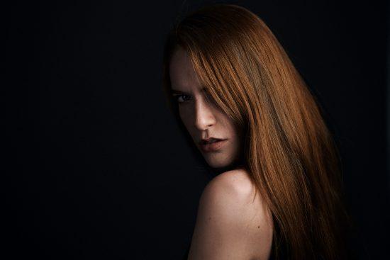 Walimex Pro Flex LED 500; Saraida düsteres Portrait