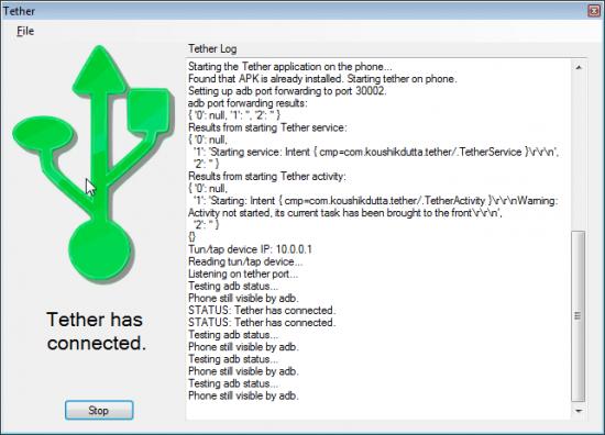 ClockworkMod Tether Alpha Windows Screenshot