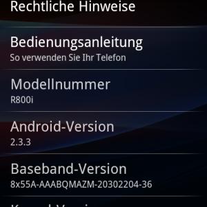 Xperia Play Update 4.0