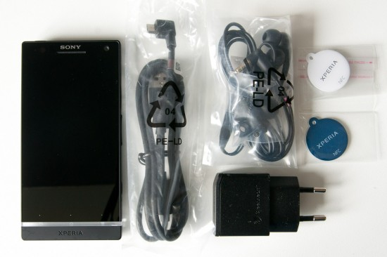 Sony Xperia S Lieferumfang