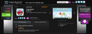 Angry Bird für Windows im AppUp