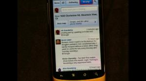 Google Buzz auf Android