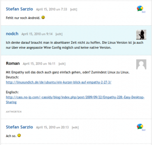 Google Buzz Kommentare in WordPress