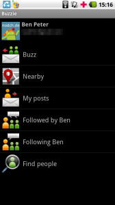 Buzzie Google Buzz Android Client