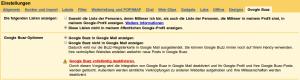 Google Buzz Einstellungen