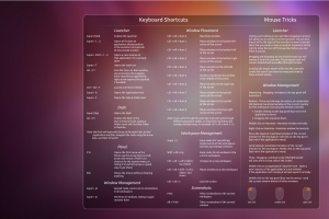 Ubuntu 11.04 Natty Shortcuts Wallpaper