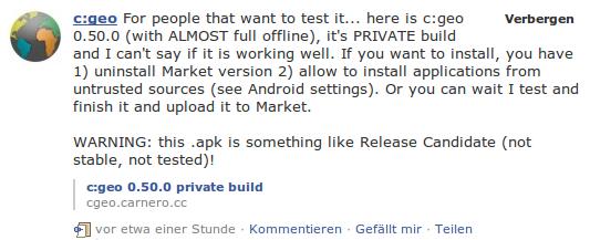 C:Geo Facebook Ankündigung