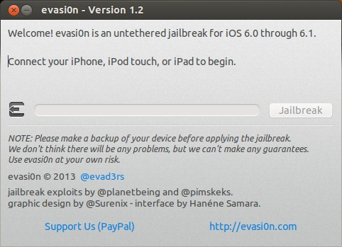 evasi0n - Jailbreak Screenshot
