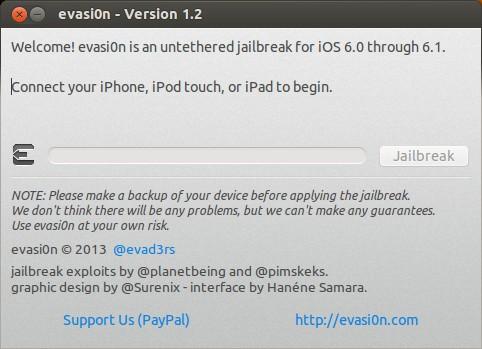 evasi0n - Jailbreak Screenshot