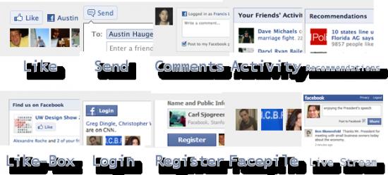 Soziale Facebook Plugins