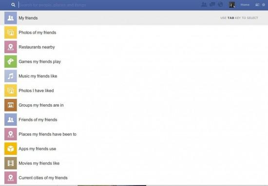Facebook Graphsearch Suchvorschlag