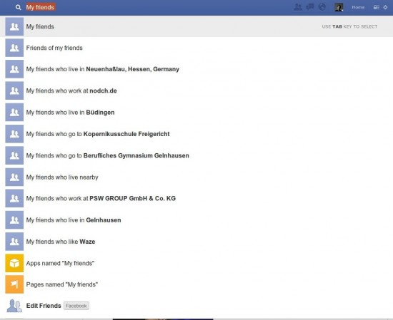 Facebook Graphsearch Suche Teil 2