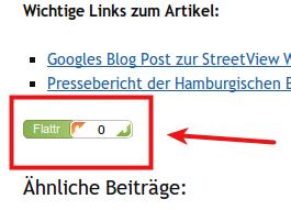 Flattr Button auf nodch.de