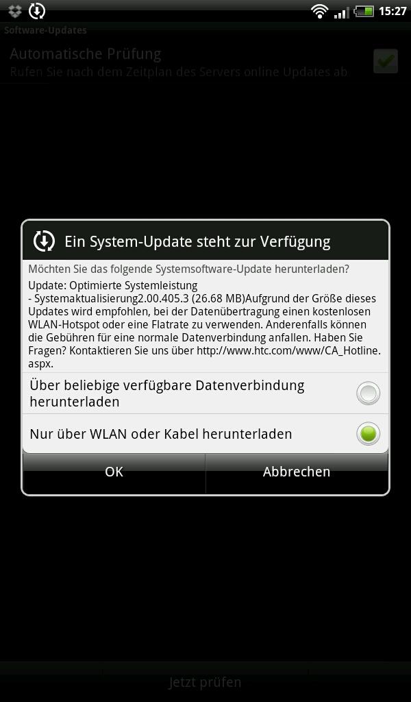 HTC Flyer Update 2.00.405.3 Schritt 1