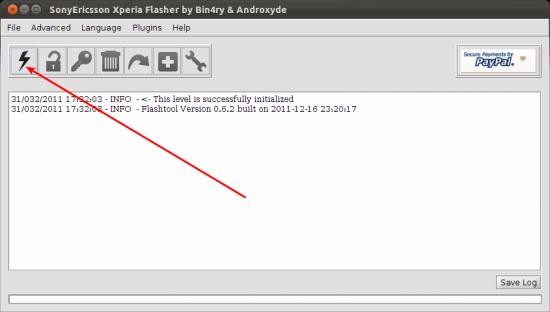 FlashTool Xperia Ubuntu