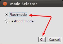 FlashTool Xperia Ubuntu Mode Auswahl