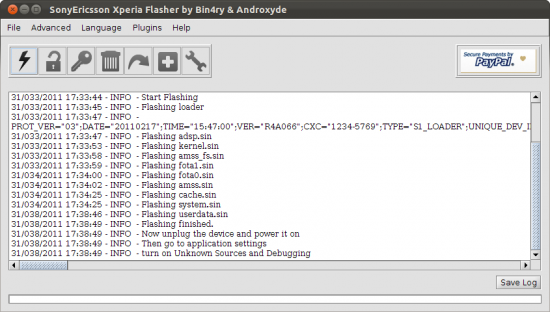 FlashTool Xperia Ubuntu Flash Firmware