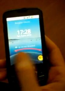 Android 2.0 Lockscreen (Screenshot aus Video)