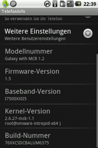 Samsung Galaxy mit MoDaCo ROM